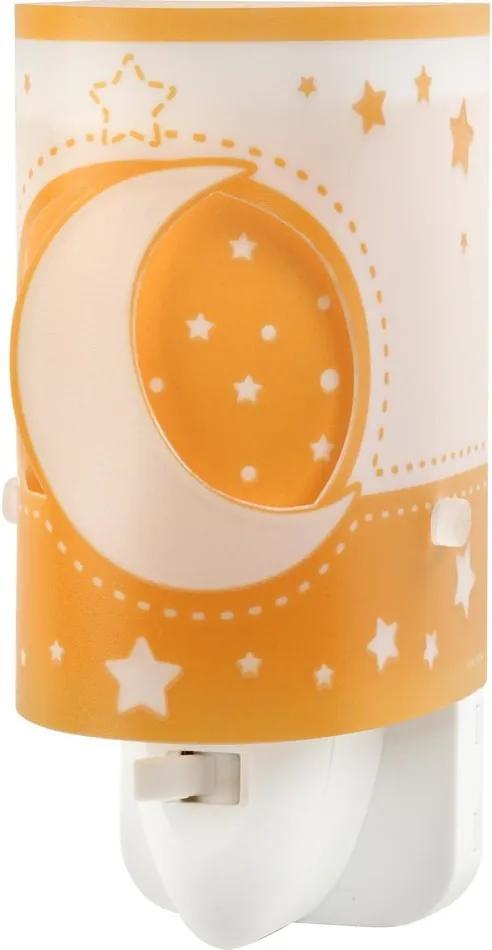 Dalber MOON LIGHT 63235LJ Aplice perete pentru copii alb orange 1xLED max. 0.3W 6x13 cm