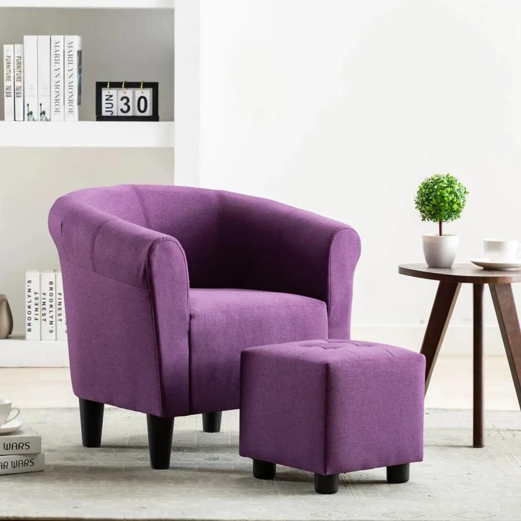 248031 vidaXL Fotoliu, violet, material textil
