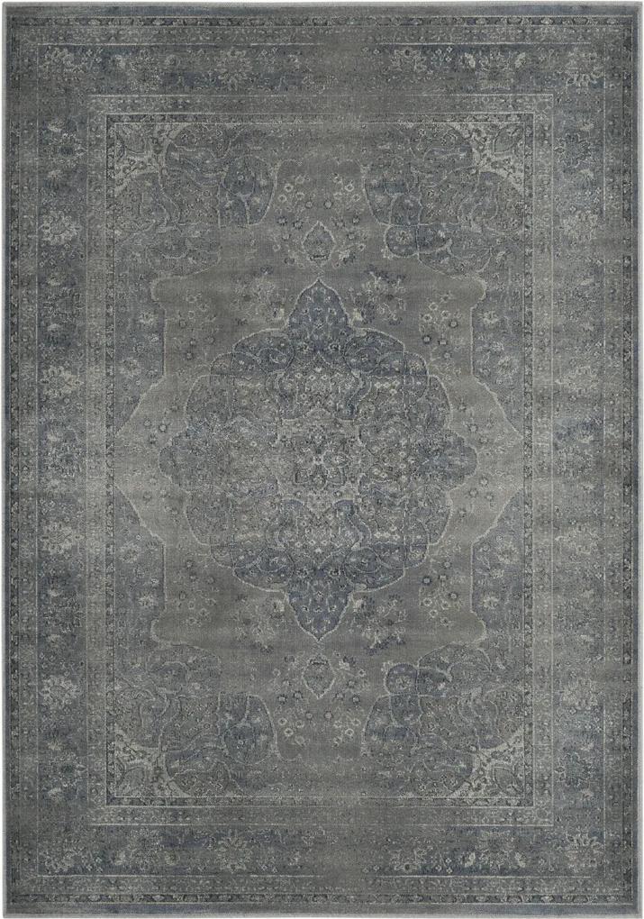 Covor Oriental & Clasic Chloe, Albastru/Gri, 120x170
