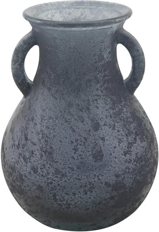 Vază din sticlă reciclată Mauro Ferretti Anfora, ⌀ 11,5 cm, albastru