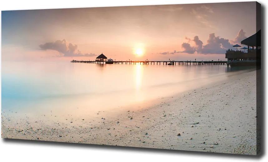 Tablou pe pânză canvas Plaja maldive