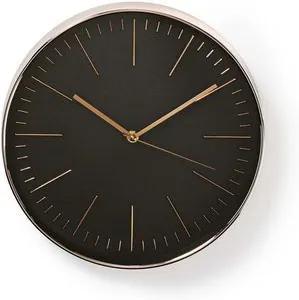 Ceas de perete negru roz 30 cm Nedis