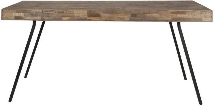 Masa dining din lemn de tec si metal Suri 200x90 cm