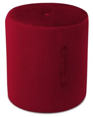 Puf Mazzini Sofas Fiore, ⌀ 40 cm, roșu