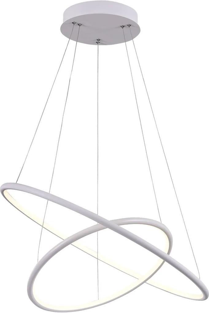 Corp de iluminat 2 cercuri albe din metal cu LED integrat Nola 2