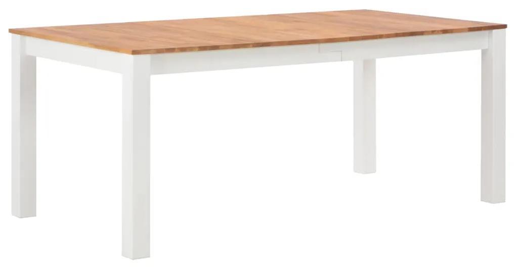 247846 vidaXL Masă de bucătărie, 180 x 90 x 74 cm, lemn masiv de stejar