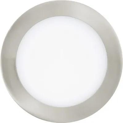 Spot incastrabil cu LED integrat Fueva1 10,9W 1200 lumeni, 3000K, Ø170 mm, alb/nichel mat