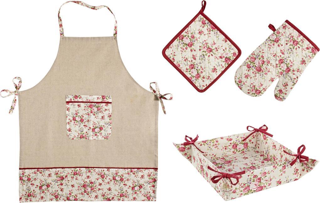 Set manusa servet sort cos paine Flowers