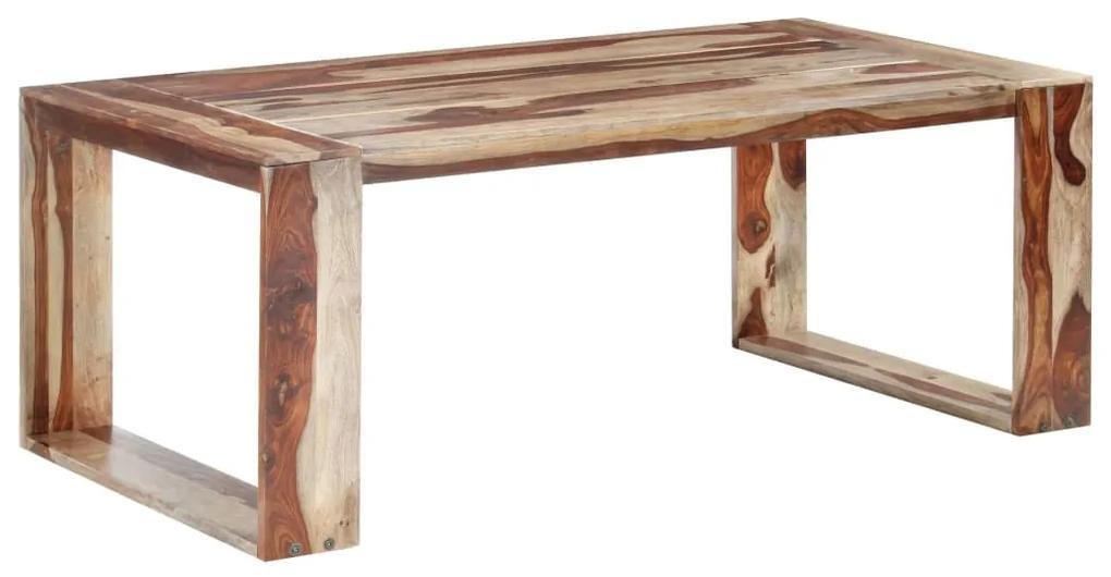 286356 vidaXL Masă de bucătărie, 200 x 100 x 76 cm, lemn masiv de sheesham