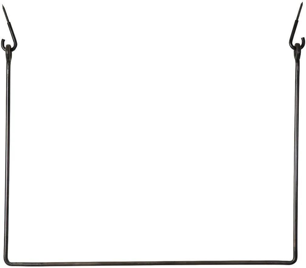 Cuier pentru Umerase RACK - Metal Negru lungime (100cm) x inaltime (75cm)