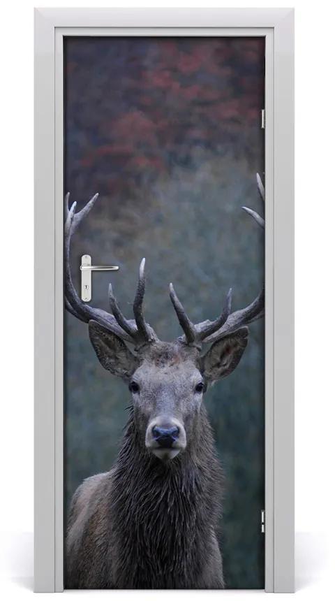 Autocolante pentru usi ușă autoadeziv Deer Natura