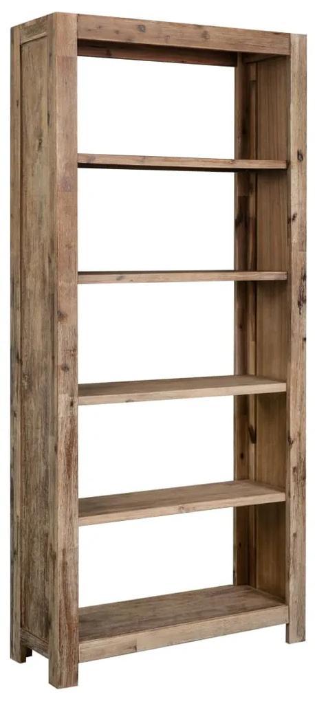288242 vidaXL Bibliotecă, 80 x 30 x 170 cm, lemn masiv de acacia