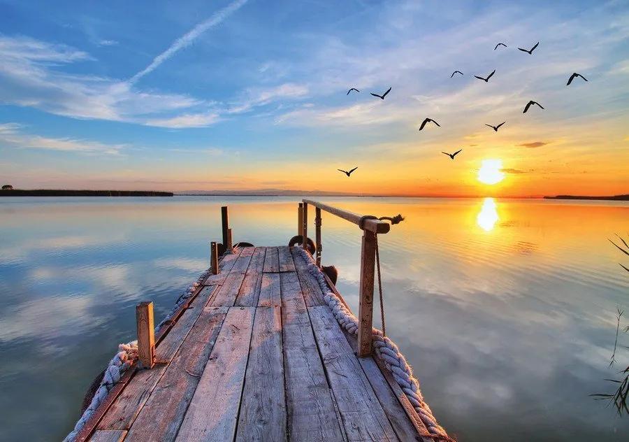Fototapet: Chei la apus de soare - 184x254 cm