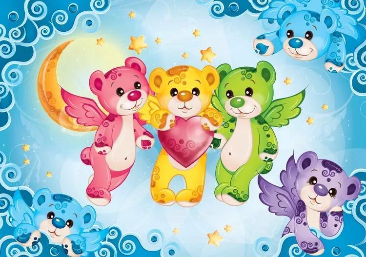 Care Bears Heart Fototapet, (184 x 254 cm)