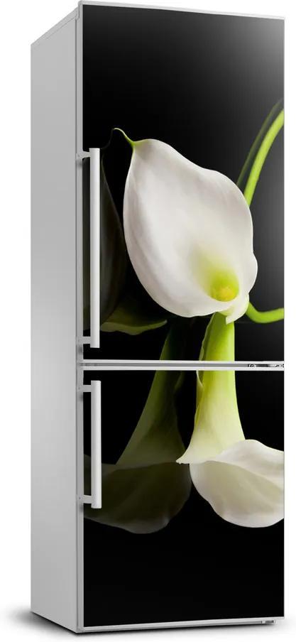 Autocolant pe frigider Calla alb