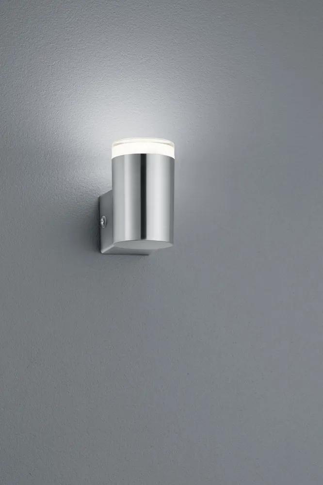 Trio ARACATI R28211107 Aplice pentru iluminat exterior nichel mat incl. 1 x SMD, 4W, 3000K, 340Lm H:9,5cm