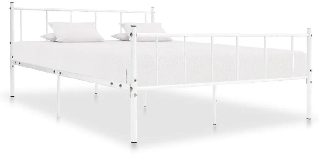 284635 vidaXL Cadru de pat, alb, 200 x 200 cm, metal