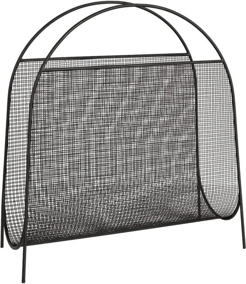 Suport reviste de podea din fier negru Zaira 39.5 cm x 16.5 cm x 42 h