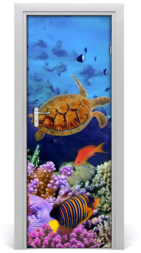 Autocolante pentru usi recif de corali