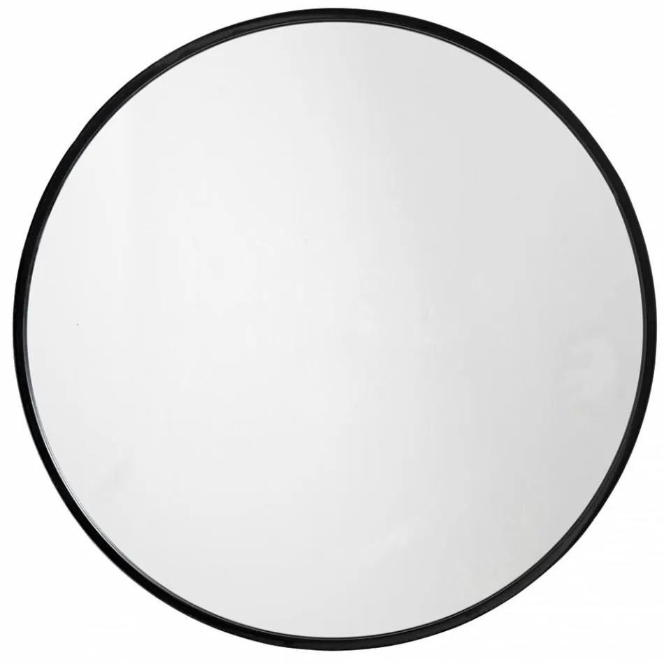 Oglinda rotunda metal negru 80cm