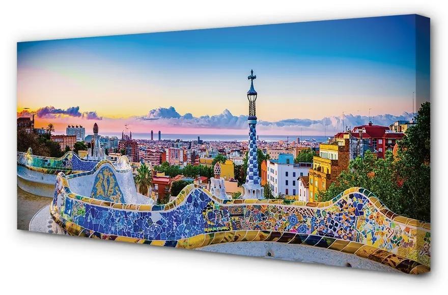 Tablouri canvas Tablouri canvas Spania panoramă a orașului