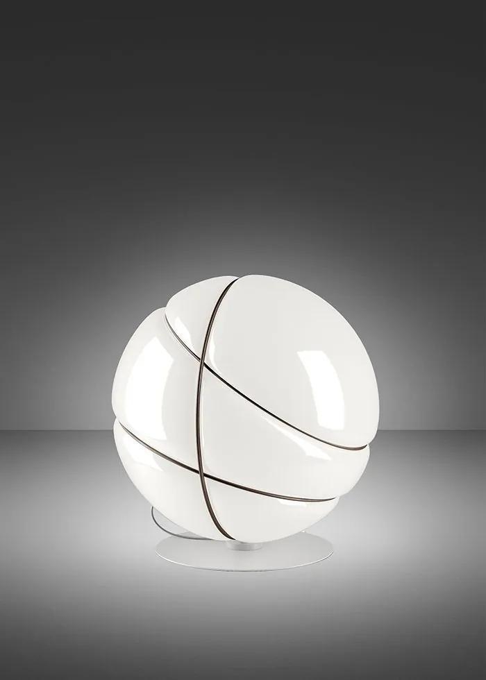 Armilla Albă - Lampă de masă sferică din sticlă
