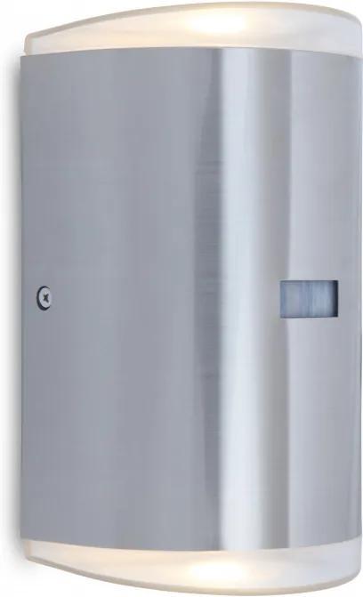Lutec PATH 5605702112 Aplice perete cu senzor oțel inoxidabil oțel inoxidabil Lextar 3030 800lm 3000K IP54 A+