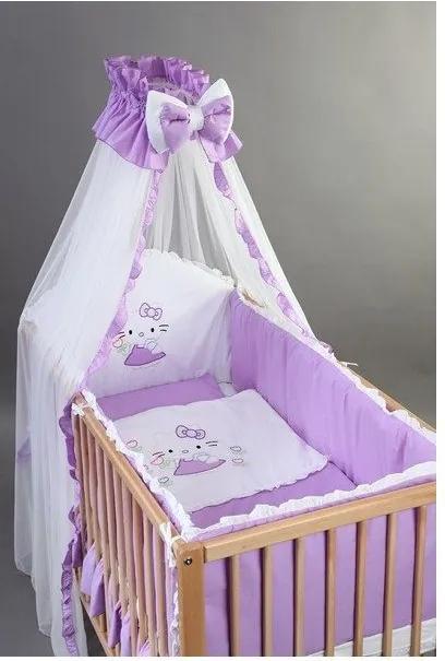 Bebe Design Set lenjerie brodata 5 piese pentru patut 140 x 70
