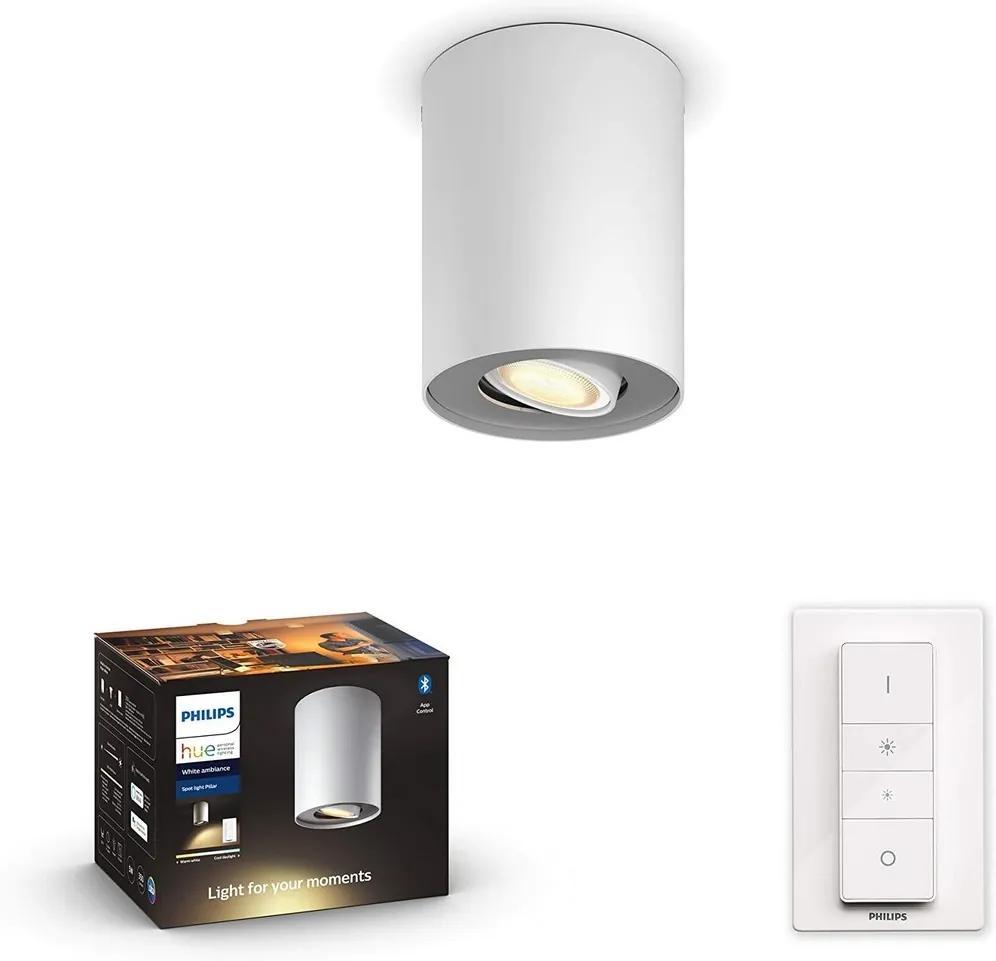 Philips 56330/31/P6 - LED Lampă dimmabilă Hue PILLAR 1xGU10/5W/230V + Telecomandă