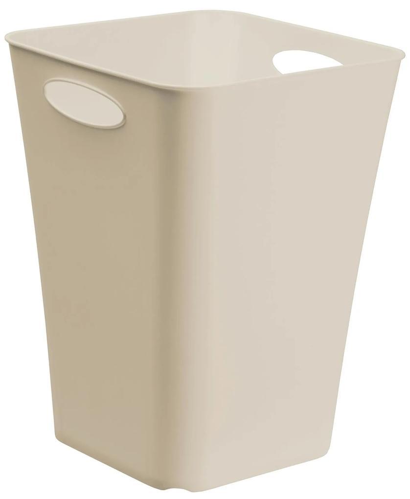 Cutie inalta depozitare din plastic crem, 30x30x40 cm
