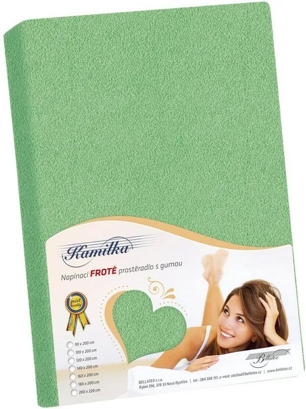 Cearceaf frotir Kamilka, verde, 120 x 200 cm, 120 x 200 cm