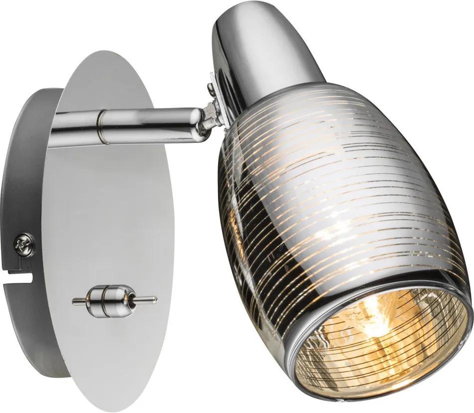 Globo 54986-1 Aplice perete cu intrerupator CARSON crom 1 x E14 max. 40w IP20
