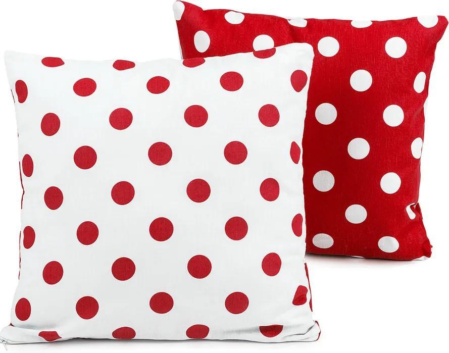 Faţă de pernă 4Home Bulină roşie, 2x 40 x 40 cm, 40 x 40 cm