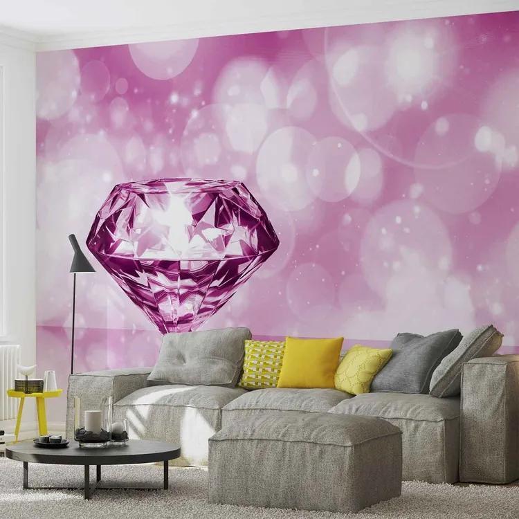 Diamond Pink Fototapet, (312 x 219 cm)