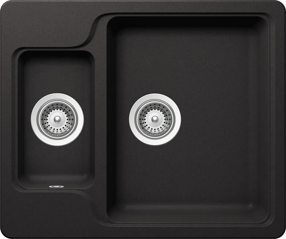 Chiuveta Granit Schock Manhattan N-150 Nero Cristalite 610 x 510 mm