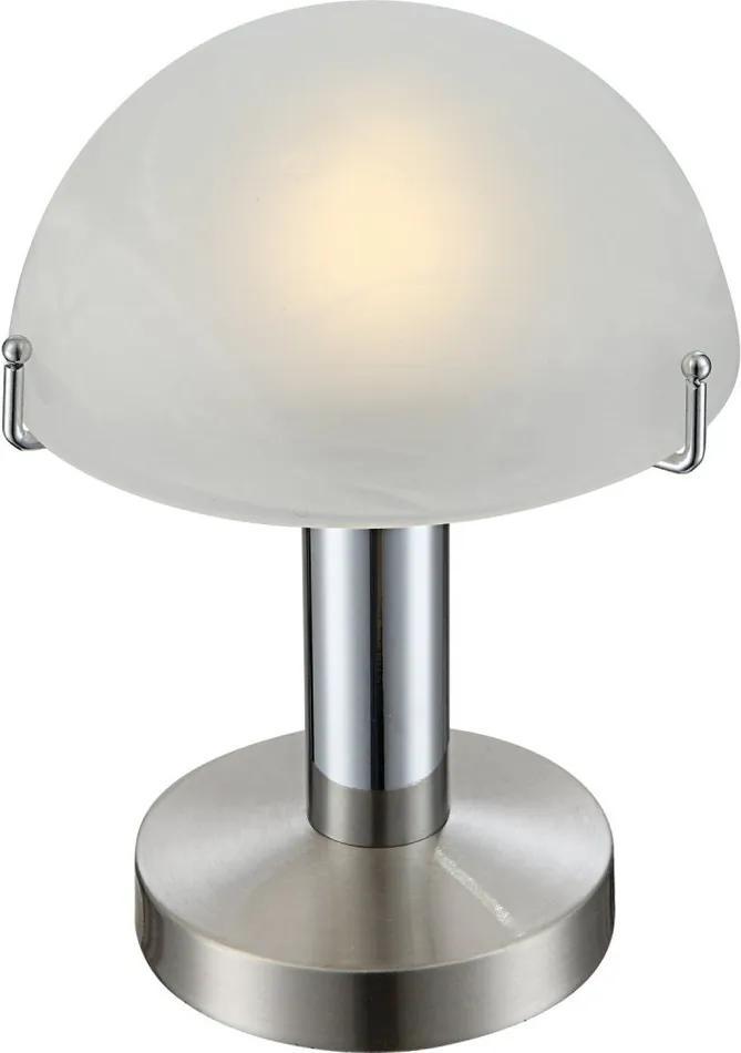 Globo Otti 21934 Lampa de masa de noapte crom nichel mat 1 x E14 max. 3w 22,5 x 15 x 15 cm