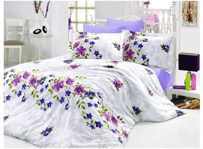 Lenjerie de pat cu cearșaf Nerissa Love, 200 x 220 cm