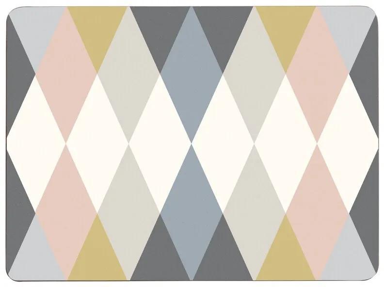 Set de 4 naproane Delphine, multicolor