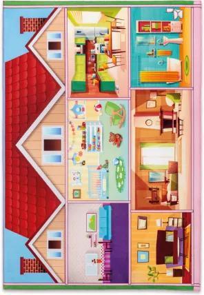 Covor pentru copii din PE  Soft Play House Multicolour, 100 x 150 cm