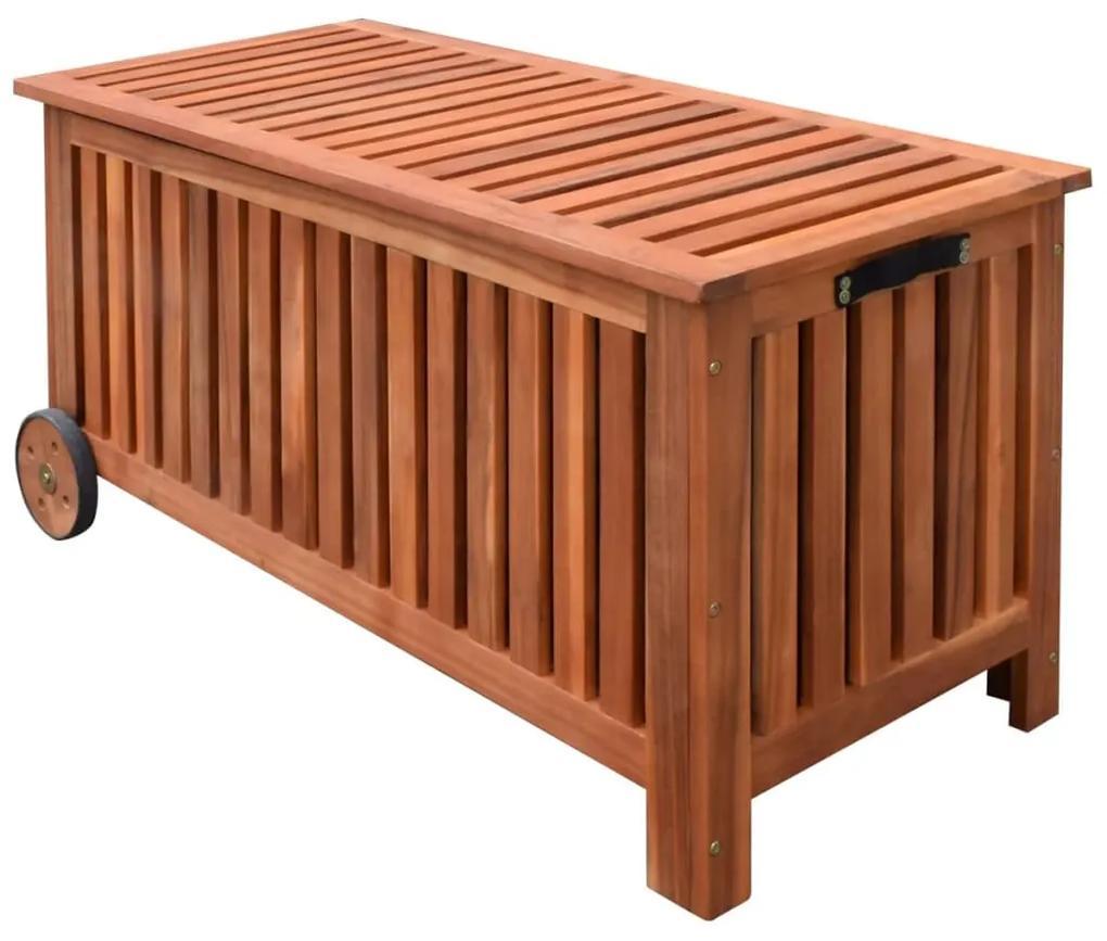41772 vidaXL Ladă de depozitare de grădină, 118 x 52 x 58 cm, lemn