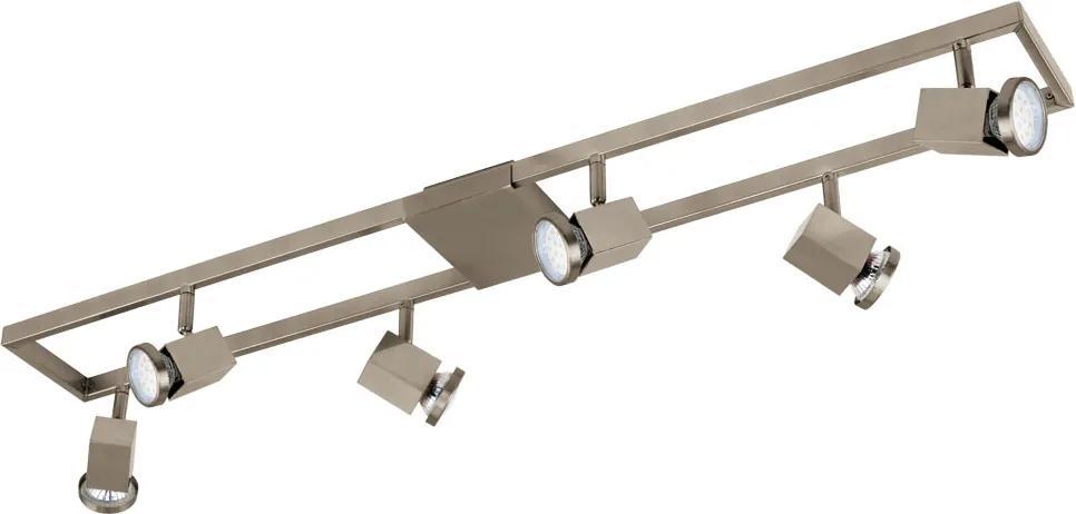 Plafoniera EGLO ZERACO 93679, GU10 6X5W, Otel, Plastic, Nichel Mat