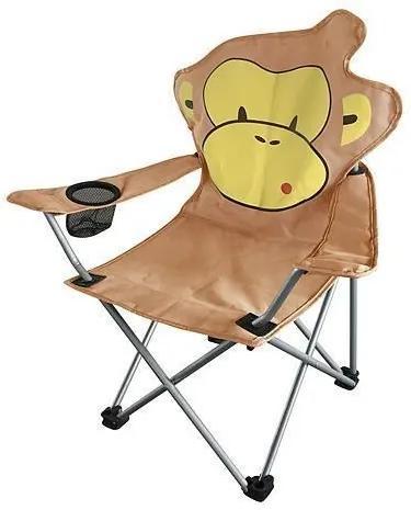 Scaun pliabil pentru copii camping, gradina, pescuit 35x35x56 cm - model maimuta