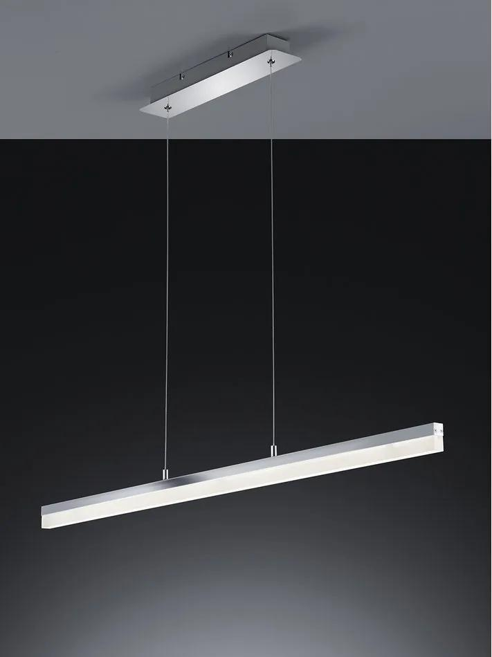 Trio 377610106 Pendule LED SANDRO crom metal incl. 1 x SMD, 24W, 3000K, 2200Lm 2200lm 3000K IP20
