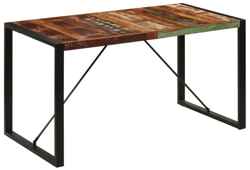 247421 vidaXL Masă de bucătărie, 140x70x75 cm, lemn masiv reciclat