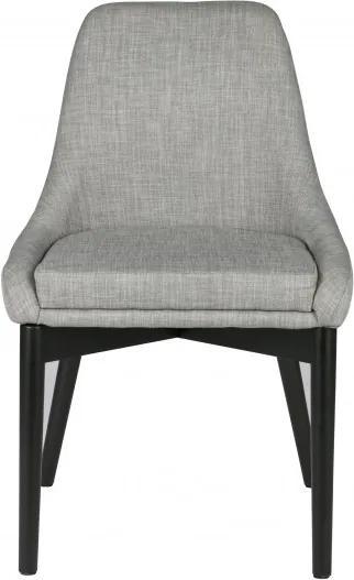 Set 2 scaune tapitate Koen gri deschis