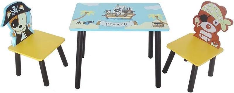 Style - Set masuta si 2 scaunele Pirate Blue