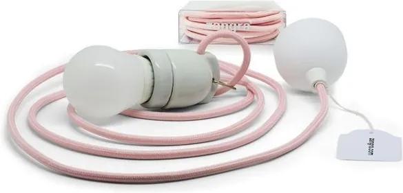 Lustra din portelan alb si roz Zangra