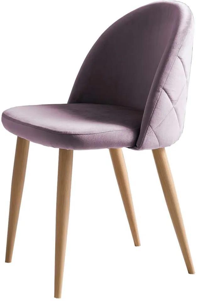 Set de 2 scaune Venza, catifea, roz
