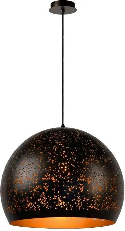 Lucide 21407/50/97 - Lampa suspendata ETERNAL 1xE27/60W/230V negru 50 cm