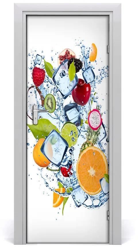 Autocolante pentru usi Fructe și gheață